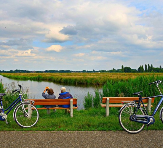 Bicycle mature couple