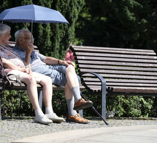Parck Bench - Elderly Couple